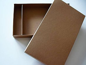 Krabičky - jednoduchá krabička s priečinkom - 10579930_