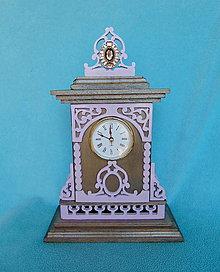 Hodiny - Drevené hodiny Isabelle - 10579672_