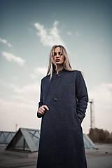 Kabáty - Modro fialový kabát - 10579170_