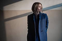 Kabáty - Modro fialový kabát (S) - 10579172_
