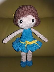 Hračky - Bábika v tyrkysových šatách - 10578748_