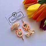 Náušnice - Ručne šité šujtášové náušnice / Soutache earrings with flower tassels & Swarovski®️crystals - 10579957_