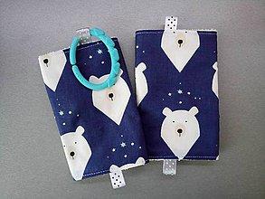 Detské doplnky - Ochranné návleky na popruhy na ergonosič biele medvede - 10582150_