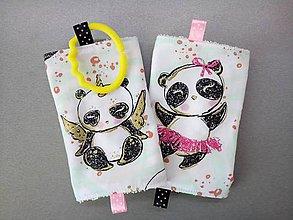 Detské doplnky - Ochranné návleky na popruhy na ergonosič pandy so zlatým - 10582178_
