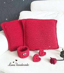 Úžitkový textil - Pletené Vankúše - 10582250_