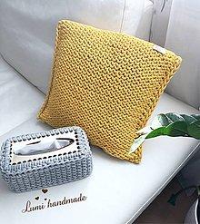 Úžitkový textil - Pletený vankúš - 10582255_