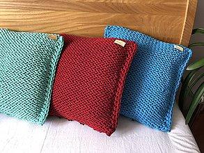 Úžitkový textil - Pletené vankúše - 10582272_