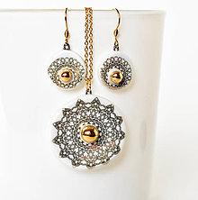 Sady šperkov - Zlatá mandala - 10582516_