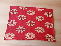 Úžitkový textil - Pletené deky - 10579982_