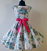 Detské oblečenie - Detské retro šaty 146-152 - 10582307_