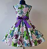 Detské oblečenie - Detské retro šaty 146-152 - 10582322_