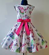 Detské oblečenie - Detské retro šaty 146-152 - 10582350_