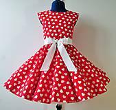 Detské oblečenie - Detské retro šaty 146-152 - 10582374_