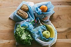 Nákupné tašky - Ekošopka (nákupný set Zerowaste) (Modrá) - 10578826_