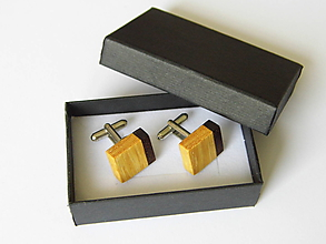 Šperky - Manžetové gombíky drevené - 10581040_