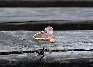 Prstene - Strieborný prsteň s ružovým zlatom Ruženín - 10578920_