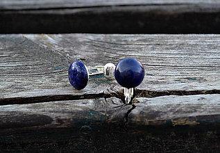 Náušnice - Lapis Lazuli klipsne - 10581187_