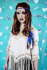Ozdoby do vlasov - Multifunkčná čelenka modrá (2kusy) - 10579853_