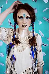Ozdoby do vlasov - Multifunkčná čelenka modrá (2kusy) - 10579855_