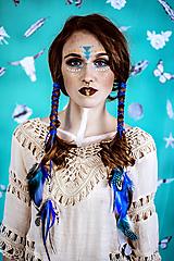 Ozdoby do vlasov - Multifunkčná čelenka modrá (2kusy) - 10579856_