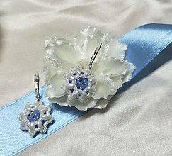 Náušnice - Náušnice pre malé slečny (1,5 cm - Modrá) - 10581884_