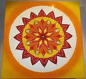 "Obrazy - Mandala s piesku ""Slnko"" - 10580312_"