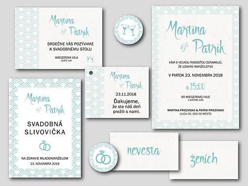 6359172e0b7e Ďakovné kartičky pre svadobných hostí - WAVE   DecoCo - SAShE.sk ...