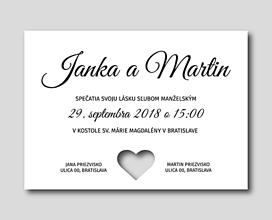 Papiernictvo - Svadobné oznámenie - HEART - 10580318_