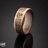 Prstene - drevený prsteň- olivové drevo a lúčne kvety - 10579774_