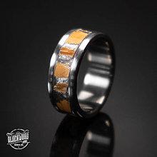 Prstene - Titánový prsteň-  pravý mamutí zub - 10579788_