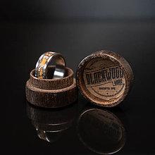 Prstene - drevená krabička - 10580231_