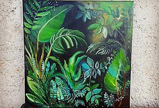 Obrazy - Olejomaľba - vitajte v džungli - 10579380_