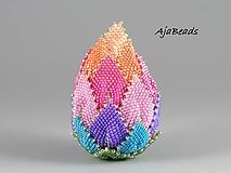 Dekorácie - Veľkonočné vajce - dúhové - 10579103_
