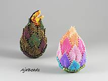 Dekorácie - Veľkonočné vajce - dúhové - 10579104_