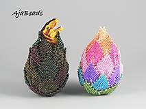 Dekorácie - Veľkonočné vajce - dúhové - 10579105_