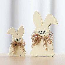 Dekorácie - Veľkonočná dekorácia z dreva - zajac žltý - 10578763_