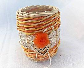 Svietidlá a sviečky - Svietnik na čajovú sviečku - 10580965_