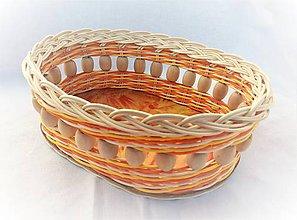 Košíky - Košíček s veľkými drevenými korálkami - 10581290_