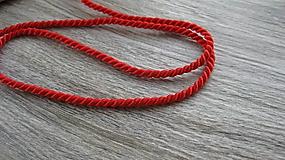 Galantéria - Krútená šnúra Grenadine - červená, Ø4 mm, 25 m - 10580968_