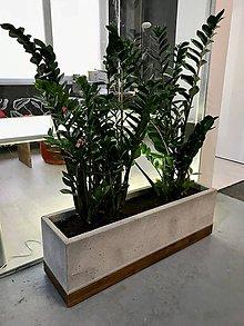 Dekorácie - Veľký betónový kvetináč - 10582165_