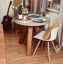 Nábytok - Okrúhly betónový stôl - 10582476_