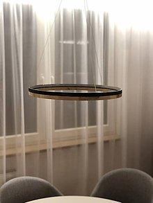 Svietidlá a sviečky - Drevené kruhové svietidlo LED - 10582555_