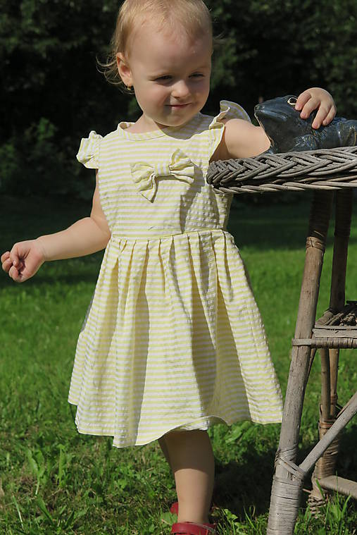89c314eaaca3 Dievčenské šaty MAMA A DCÉRA - YELLOW LEMON   Beauty.Mutti - SAShE ...