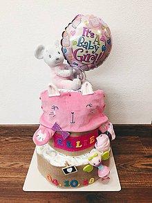 Detské doplnky - Plienková torta ELLIE - 10580215_