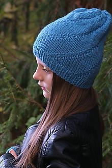 Čiapky - Set čiapka a rukavičky ovčia vlna + alpaka - 10580173_