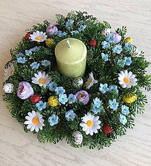 Dekorácie - Veniec na stôl - rozkvitnutá lúka - 10581431_