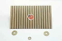 Papiernictvo - Prúžkovaná obálka na peniaze lienka - 10580749_