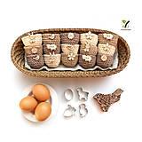 Dekorácie - Mini košíčky na vajíčka (100% biobavlna) - 10584095_