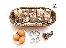 Dekorácie - Mini košíčky na vajíčka (100% biobavlna) - 10584096_