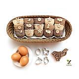 Dekorácie - Mini košíčky na vajíčka (100% biobavlna) - 10584120_